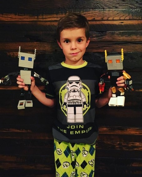 Gavin with his robots
